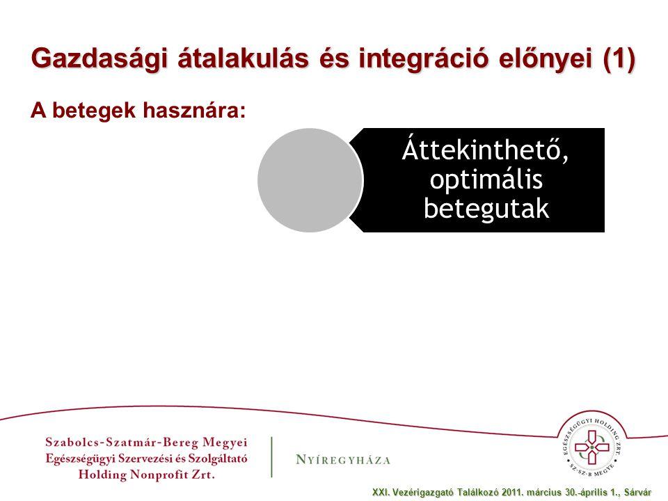 Gazdasági átalakulás és integráció előnyei (2) Érdekeltség alakítható ki Nem hal ki az ambíció A dolgozók hasznára: XXI.