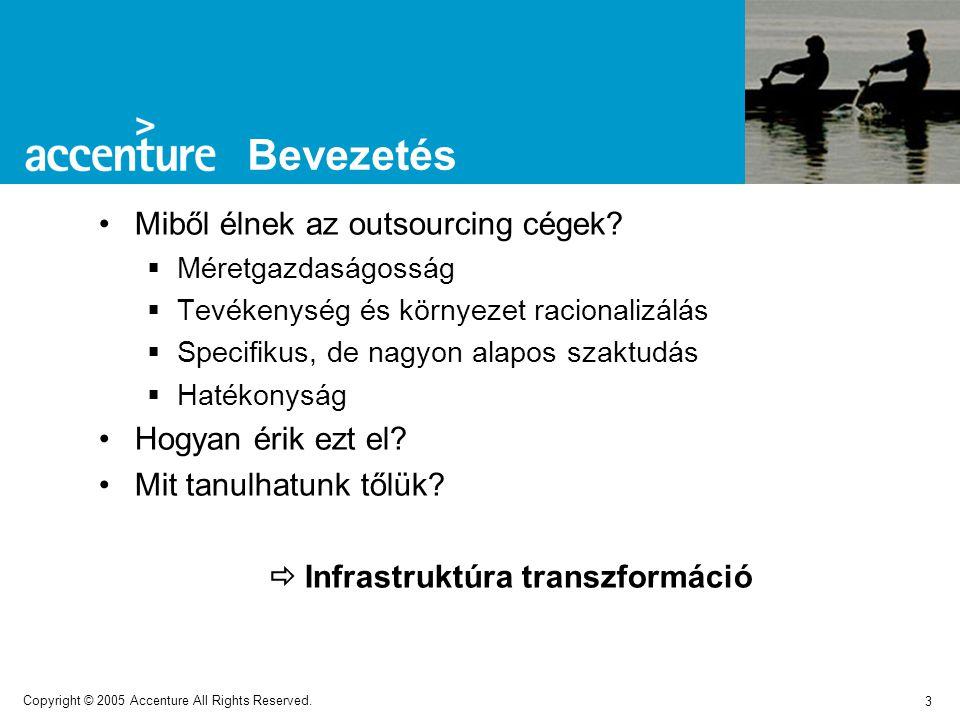 3 Copyright © 2005 Accenture All Rights Reserved. Miből élnek az outsourcing cégek.