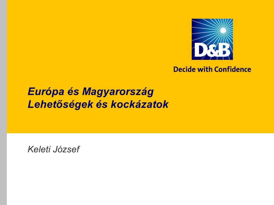 Magyar kockázattudatosság A magyar közép- és nagyvállalatok 70 százaléka tart vevői fizetési kockázatától 62 százalék használ megelőzésre információs eszközt 32 százalékuknak van írásos kockázatkezelési folyamata Nagyobb cégek kockázattudatosabbak Vezérigazgató találkozó 2011 22 Forrás: D&B közép- és nagyvállalati kutatás 2010-2011