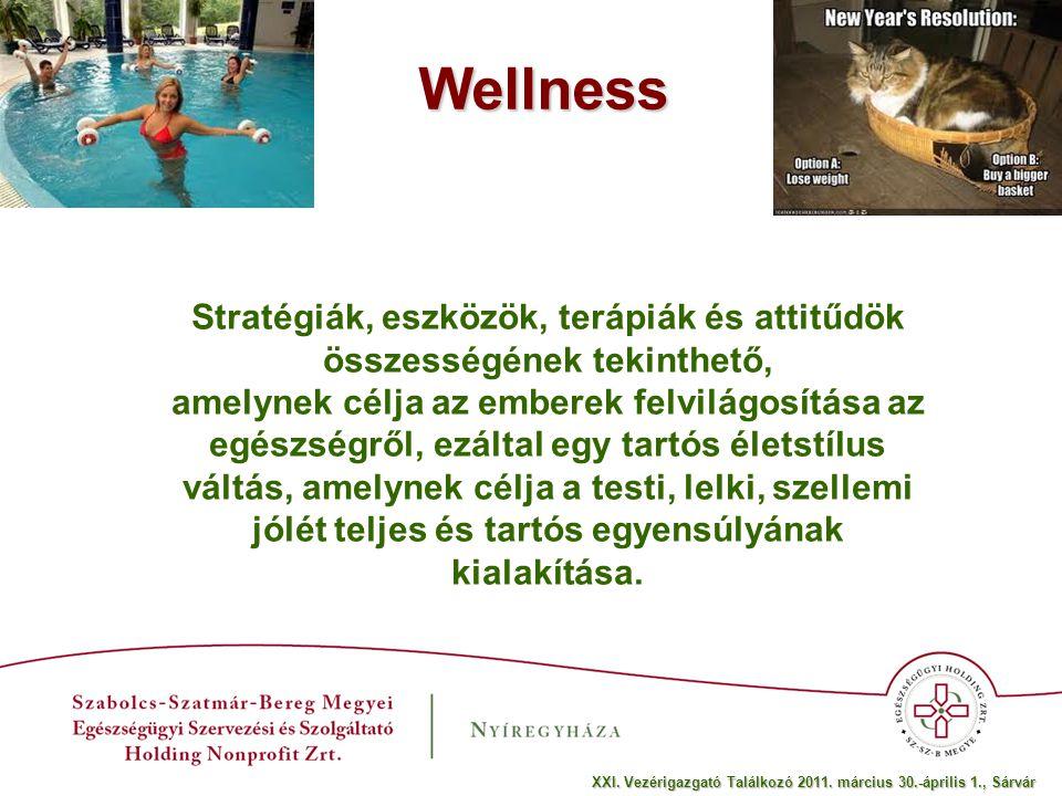 Medical wellness A gyógy-és a wellness-turizmus ötvözeteként fogható fel.