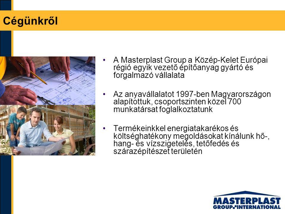 A Masterplast Group a Közép-Kelet Európai régió egyik vezető építőanyag gyártó és forgalmazó vállalata Az anyavállalatot 1997-ben Magyarországon alapí