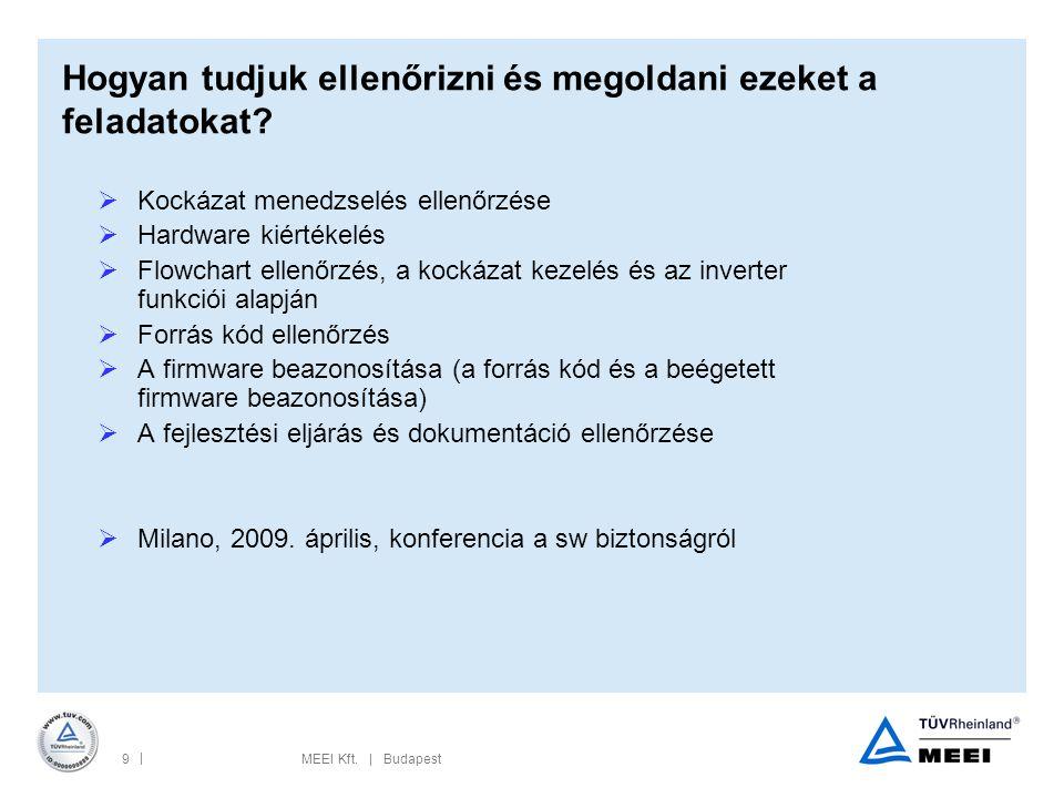 | 9MEEI Kft.| Budapest Hogyan tudjuk ellenőrizni és megoldani ezeket a feladatokat.