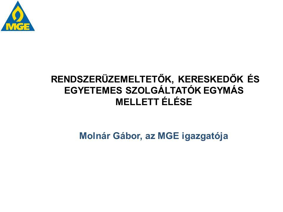 RENDSZERÜZEMELTETŐK, KERESKEDŐK ÉS EGYETEMES SZOLGÁLTATÓK EGYMÁS MELLETT ÉLÉSE Molnár Gábor, az MGE igazgatója