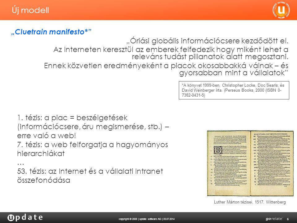 copyright © 2008 | update software AG | 23.07.2014 7 Mi is a közösségi CRM.