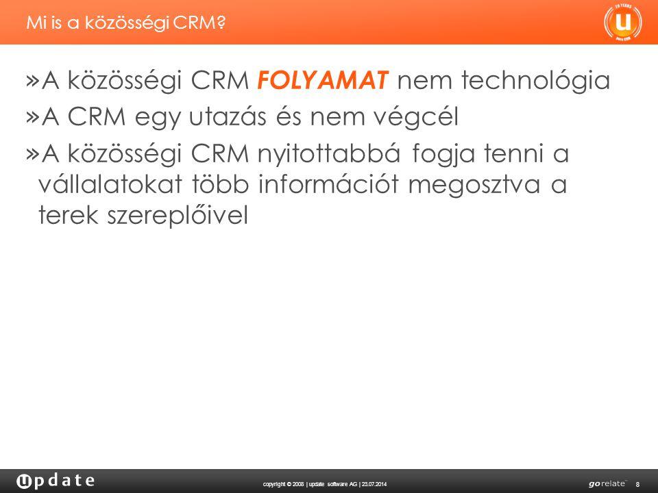 copyright © 2008 | update software AG | 23.07.2014 8 Mi is a közösségi CRM.