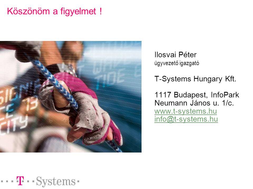 Köszönöm a figyelmet . Ilosvai Péter ügyvezető igazgató T-Systems Hungary Kft.