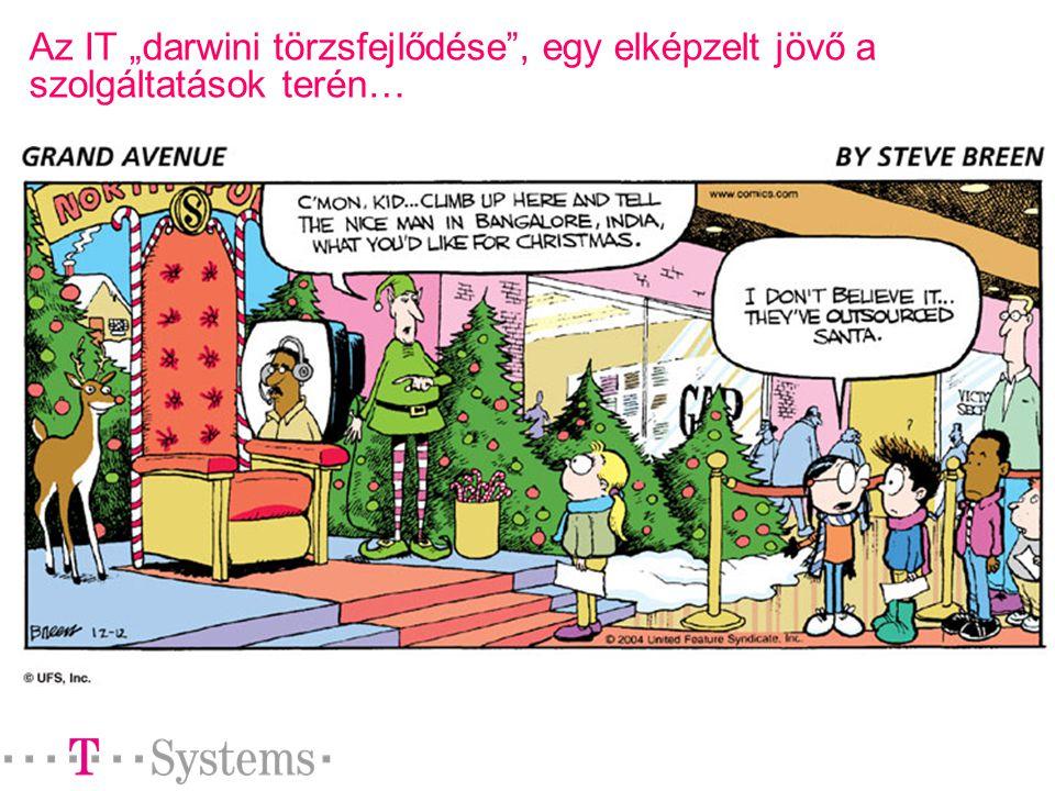 """Az IT """"darwini törzsfejlődése , egy elképzelt jövő a szolgáltatások terén…"""