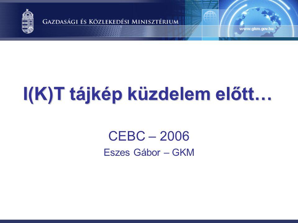 I(K)T tájkép küzdelem előtt… CEBC – 2006 Eszes Gábor – GKM