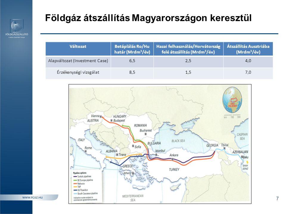 A Déli Folyosó fejlesztési megoldása A 6,5 Mrdm 3 /év-es 10.