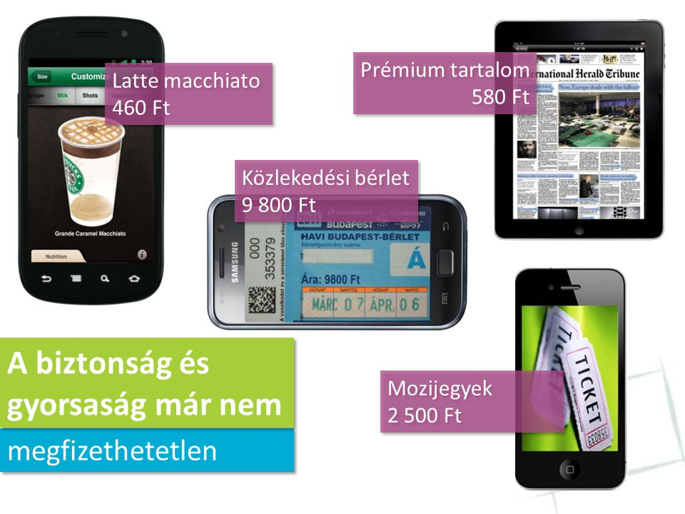 """""""2013-ra 6 milliárd mobil- előfizető lesz a világon (Infonetics Research) """"2013-ra 6 milliárd mobil- előfizető lesz a világon (Infonetics Research) """"A fiatalok 89%-a fizetne havidíjat mobilpénztárca szolgáltatásért (Alcatel-Lucent) """"A fiatalok 89%-a fizetne havidíjat mobilpénztárca szolgáltatásért (Alcatel-Lucent) megoldások Átalakulnak a fizetési"""