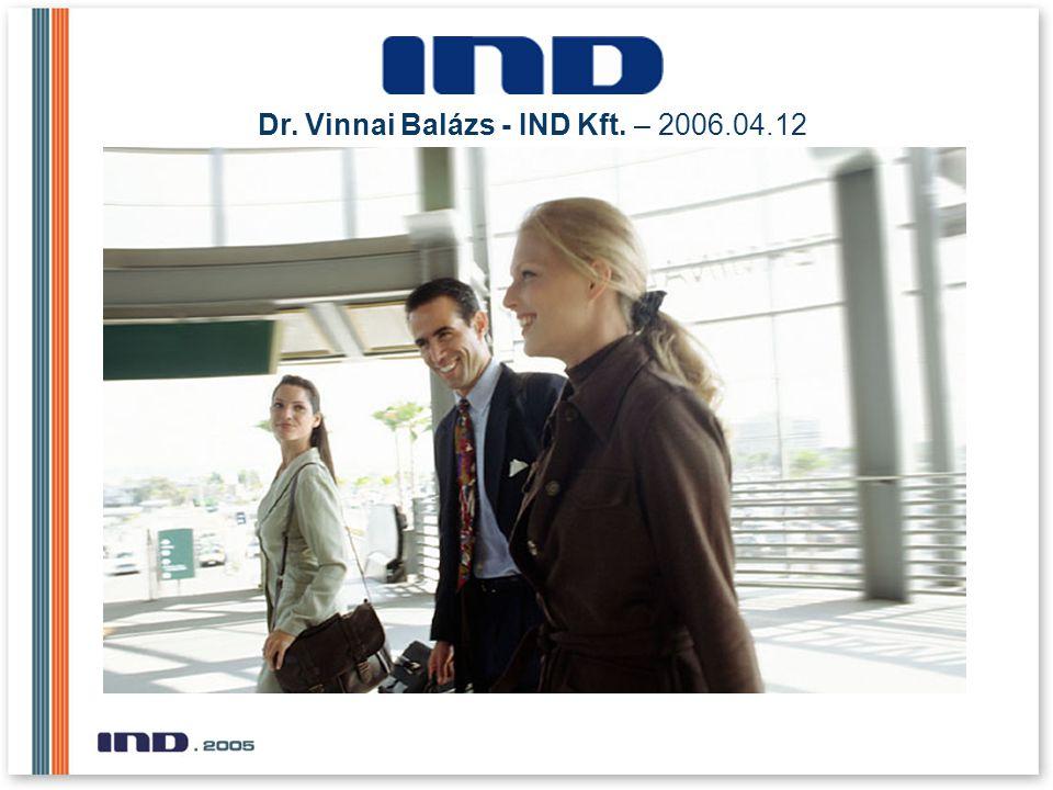 Dr. Vinnai Balázs - IND Kft. – 2006.04.12