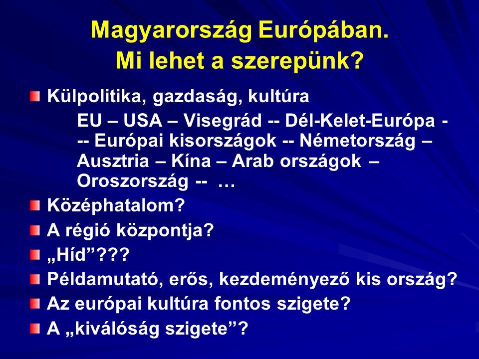Magyarország Európában. Mi lehet a szerepünk.