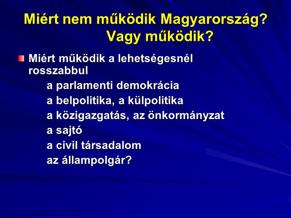 Miért nem működik Magyarország. Vagy működik.