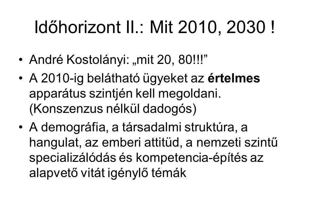Időhorizont II.: Mit 2010, 2030 .