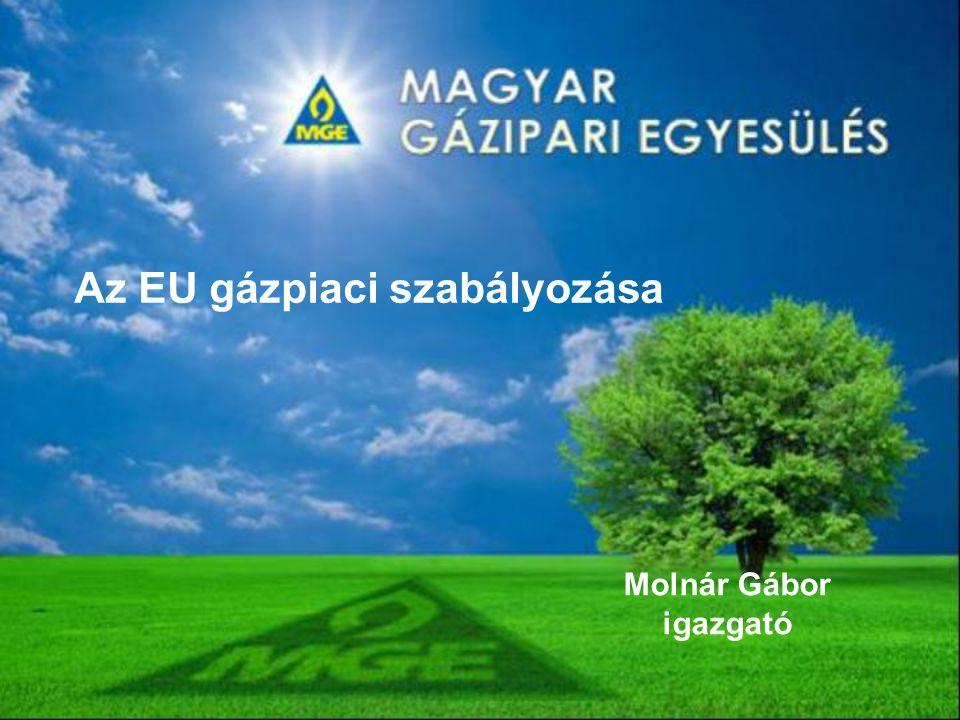 Az EU gázpiaci szabályozása Molnár Gábor igazgató
