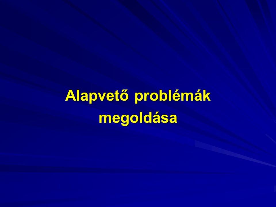 Alapvető problémák megoldása