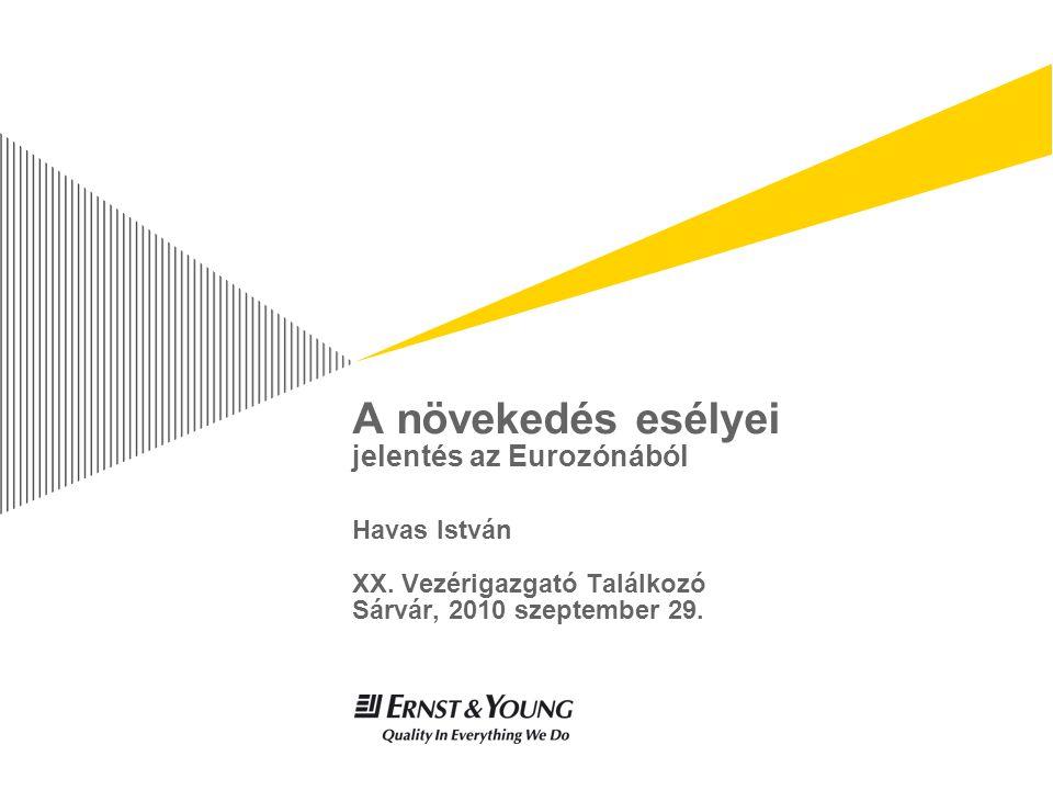A növekedés esélyei jelentés az Eurozónából Havas István XX.