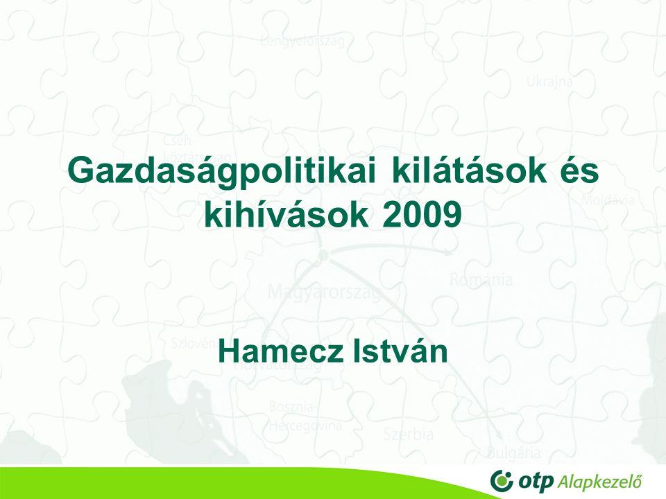 Gazdaságpolitikai kilátások és kihívások 2009 Hamecz István