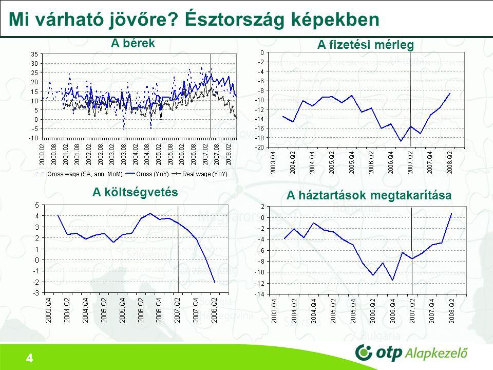 4 Mi várható jövőre? Észtország képekben A bérek A fizetési mérleg A költségvetés A háztartások megtakarítása