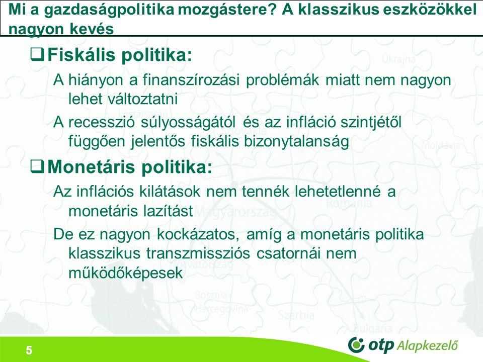 5 Mi a gazdaságpolitika mozgástere.