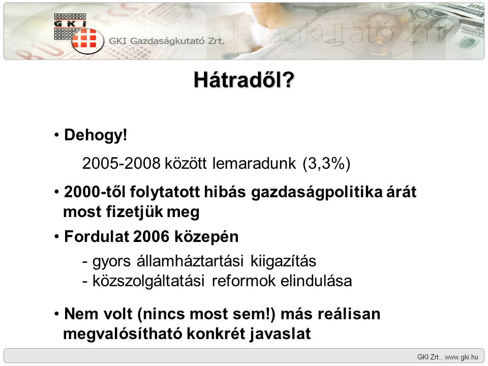 Hátradől. GKI Zrt., www.gki.hu Dehogy.