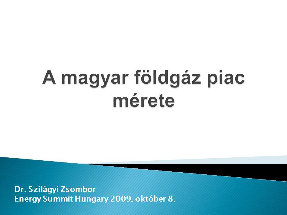 Dr. Szilágyi Zsombor Energy Summit Hungary 2009. október 8.