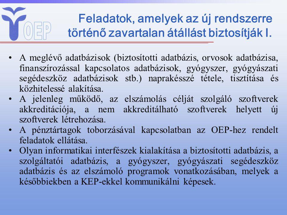 Alapkezelői feladatok II.E. Alap kezelése, közreműködés az E.