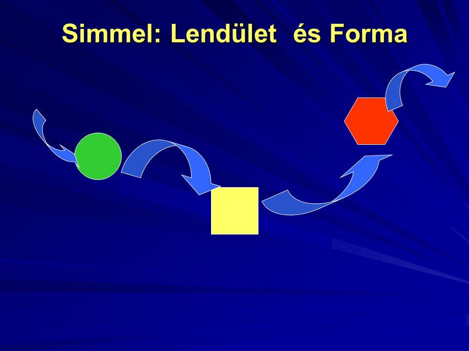 Simmel: Lendület és Forma