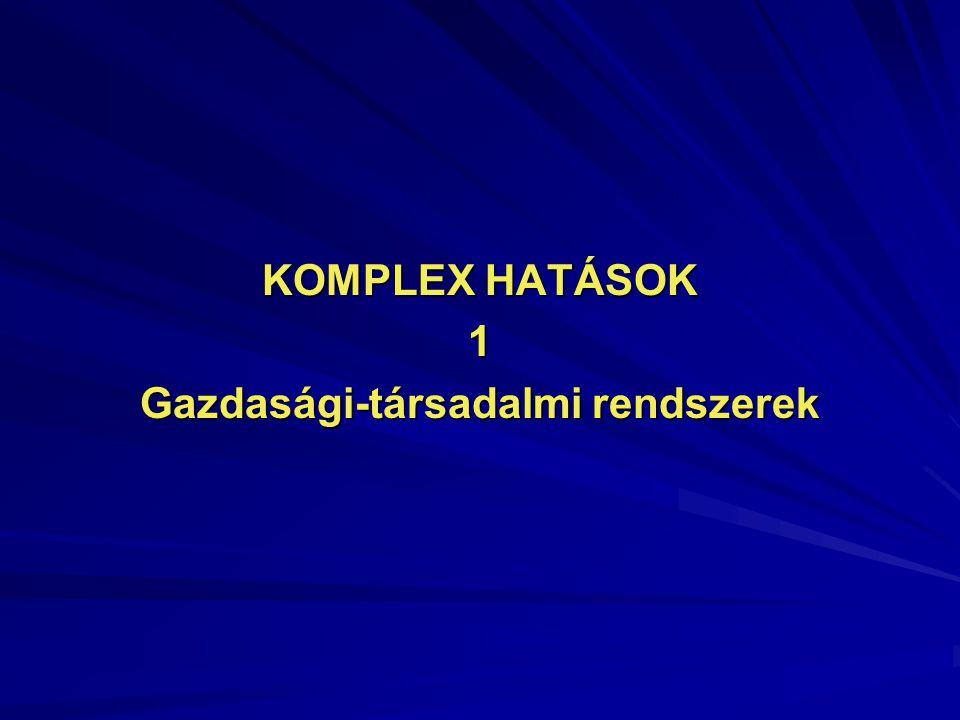 KOMPLEX HATÁSOK 1 Gazdasági-társadalmi rendszerek