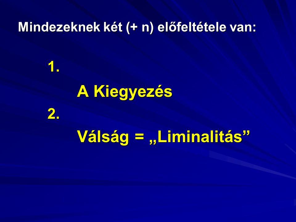 """Mindezeknek két (+ n) előfeltétele van: 1. A Kiegyezés 2. Válság = """"Liminalitás"""""""