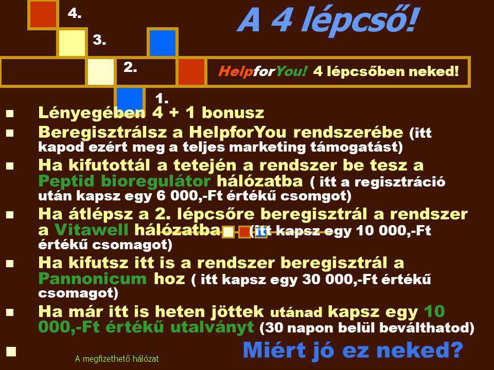A megfizethető hálózat A 4 lépcső.4. 3. 2. 1. HelpforYou.