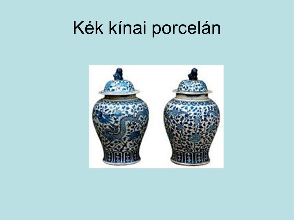 Kék kínai porcelán