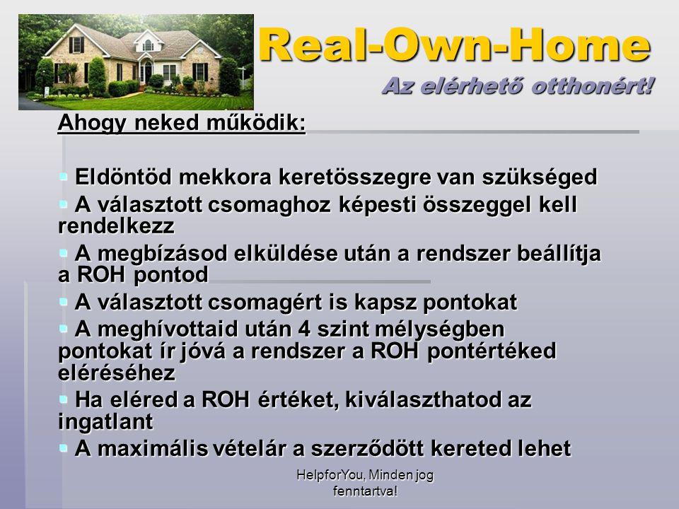 HelpforYou, Minden jog fenntartva.Real-Own-Home Az elérhető otthonért.