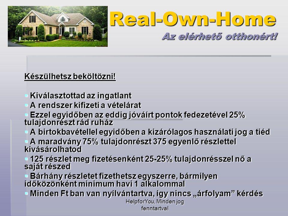 HelpforYou, Minden jog fenntartva. Real-Own-Home Az elérhető otthonért.