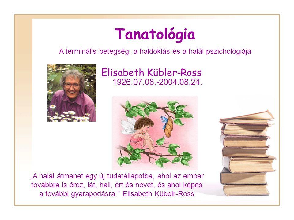 Tanatológia Elisabeth Kübler-Ross 1926.07.08.-2004.08.24.