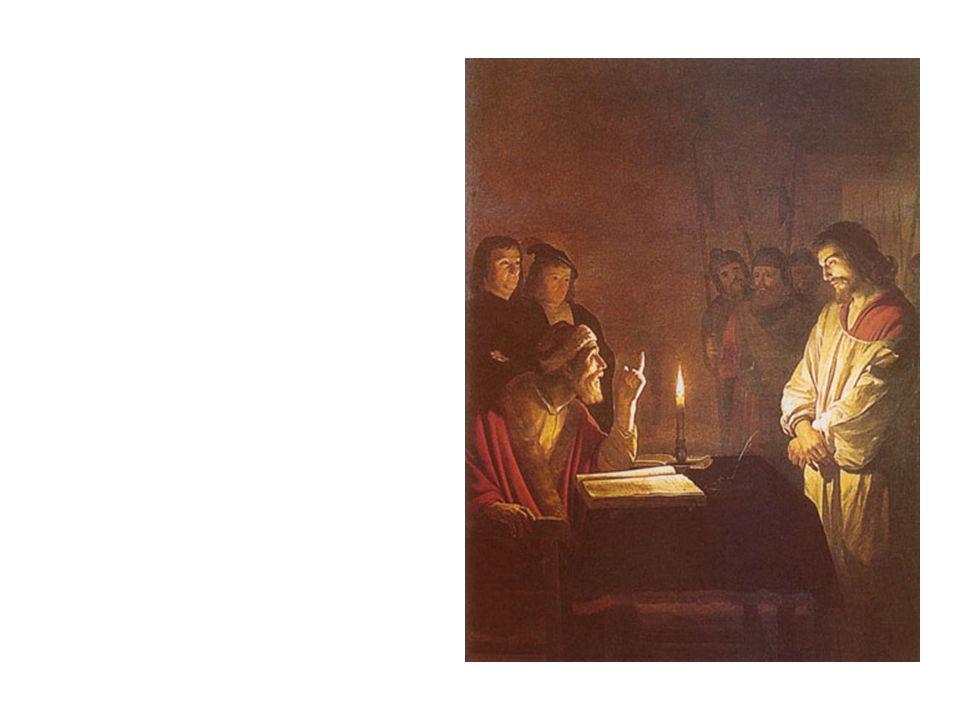 A nagypéntek eseményei: Jézus a Nagytanács előtt Mt 26, 57-68 Péter tagadása Mt 26, 69-75 Pilátus előtt Mt 27, 1-2, 11-14; Lk 23, 1-5 Heródesnél Lk 23, 6-12 Jézus és Barabbás Mt 27, 15-26; Lk 23, 13-25 Jézus keresztútja Lk 23, 26-31 Jézus a kereszten Mt 27, 31-44; Lk 23, 32-43 Jézus halála Lk 23, 44-49