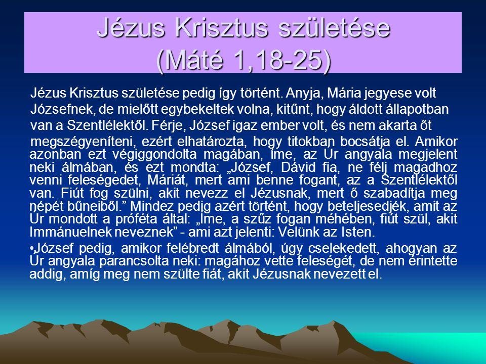 2a.Immánuel prófécia – Ézsaiás 7,14 - Immánuel = Velünk az Isten.