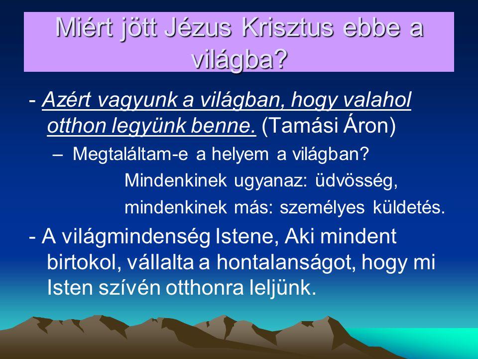 Miért ünneplünk karácsonyt.Karácsony ünnepének célja: Krisztus megszülessen a mi szívünkben is.
