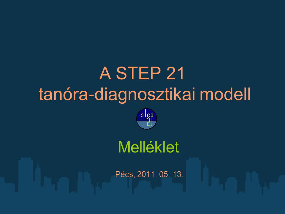 A STEP 21 tanóra-diagnosztikai modell Melléklet Pécs, 2011. 05. 13.