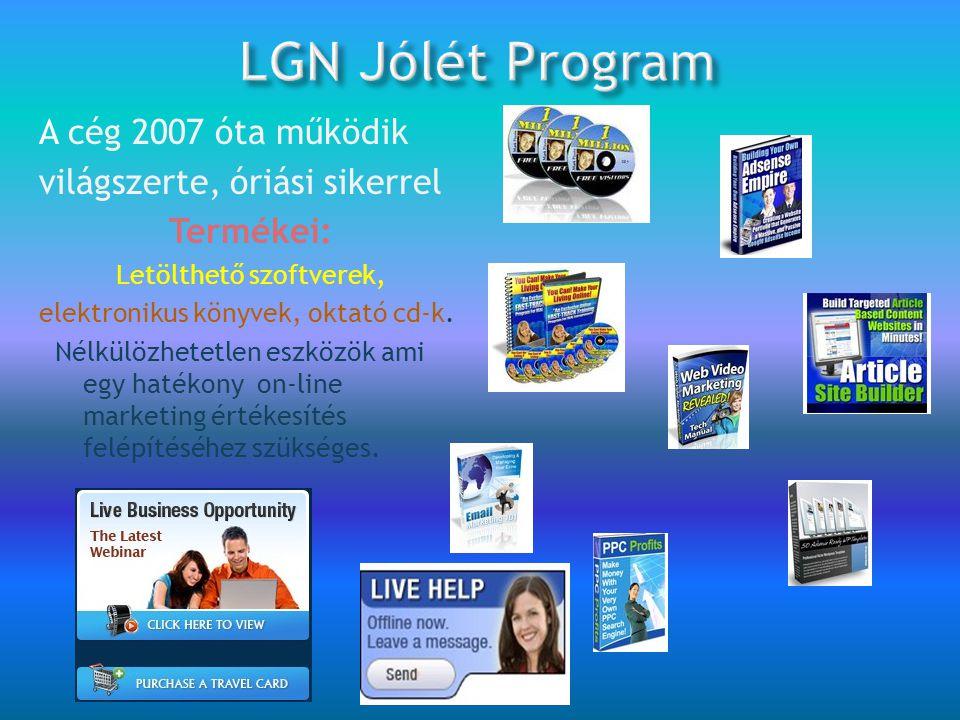 A cég 2007 óta működik világszerte, óriási sikerrel Termékei: Letölthető szoftverek, elektronikus könyvek, oktató cd-k.