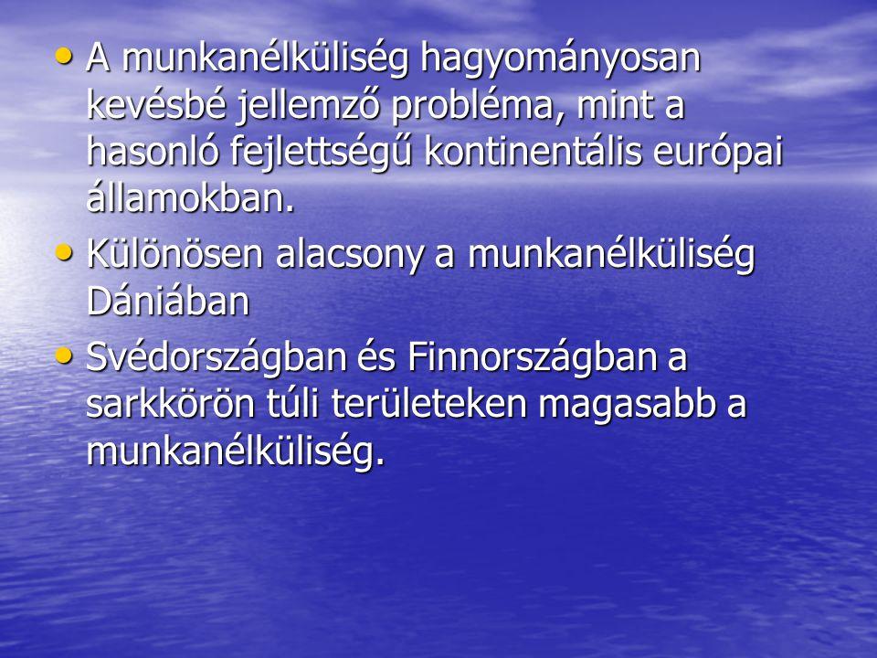 A munkanélküliség hagyományosan kevésbé jellemző probléma, mint a hasonló fejlettségű kontinentális európai államokban. A munkanélküliség hagyományosa