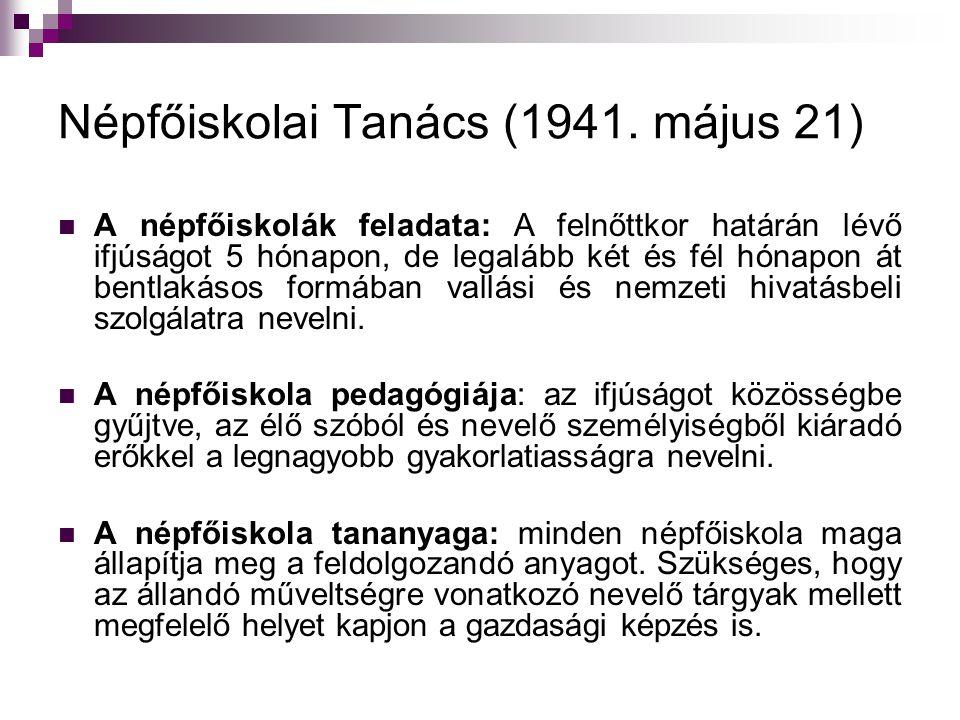 Népfőiskolai Tanács (1941.