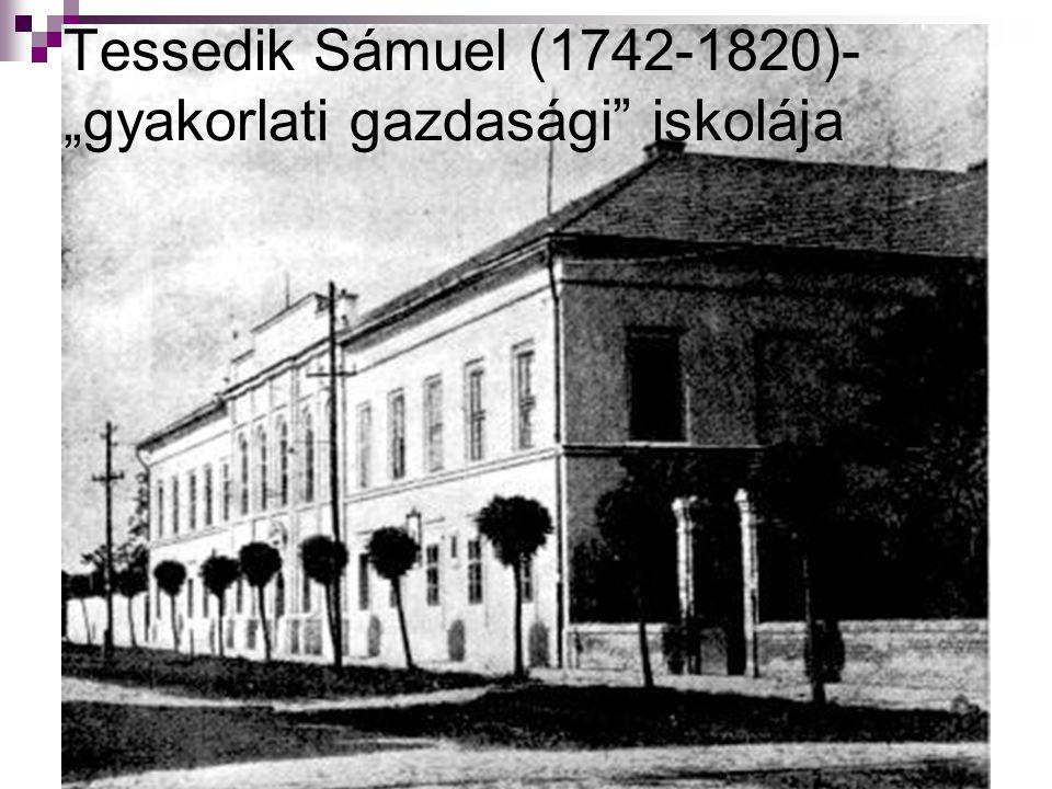 """Tessedik Sámuel (1742-1820)- """"gyakorlati gazdasági"""" iskolája"""