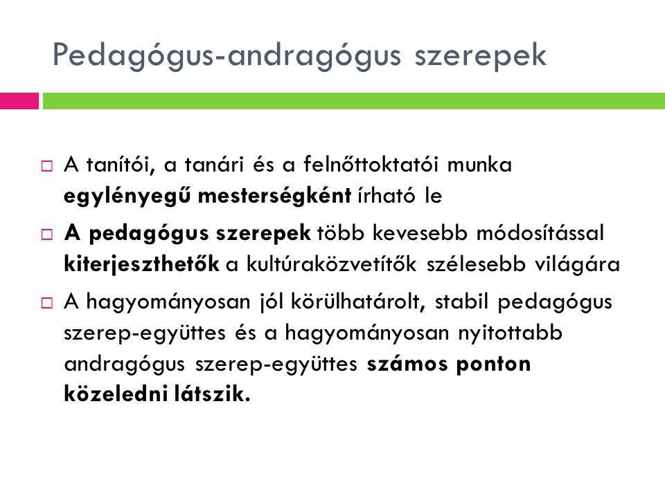 Változó pedagógus-andragógus szerepek