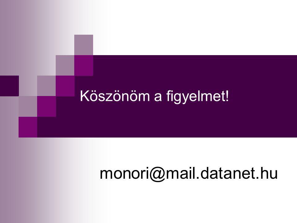 Köszönöm a figyelmet! monori@mail.datanet.hu