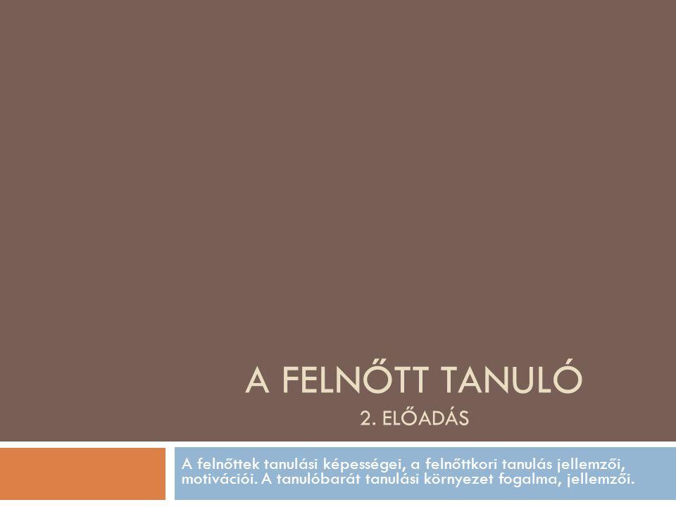 A FELNŐTT TANULÓ 2.