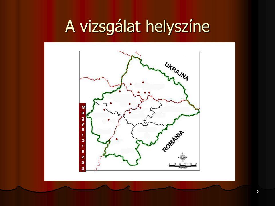6 A vizsgálat helyszíne MagyarországMagyarország