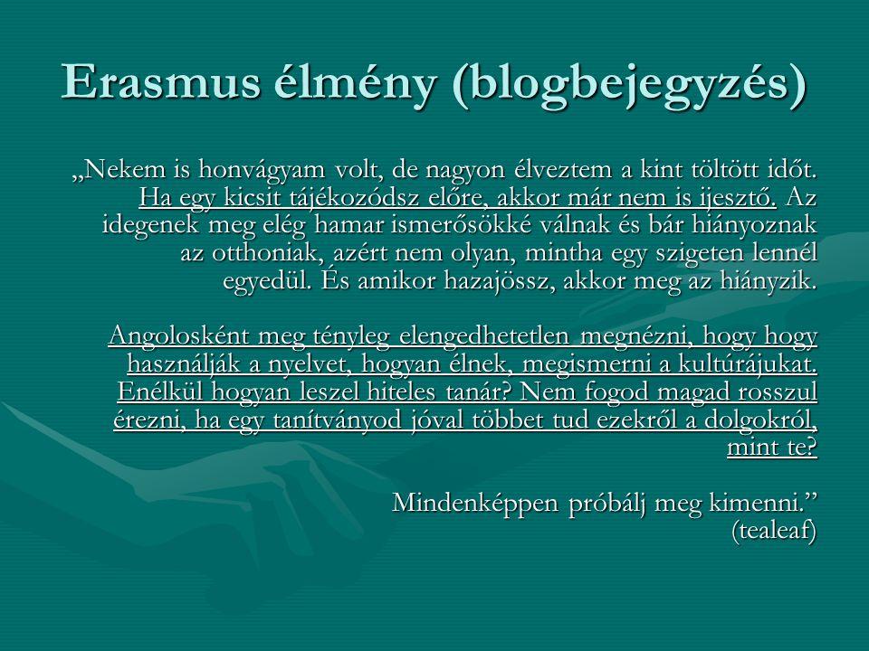 """Erasmus élmény (blogbejegyzés) """"Nekem is honvágyam volt, de nagyon élveztem a kint töltött időt."""