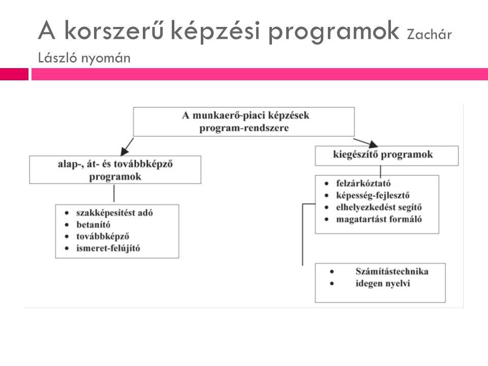 A korszerű képzési programok Zachár László nyomán