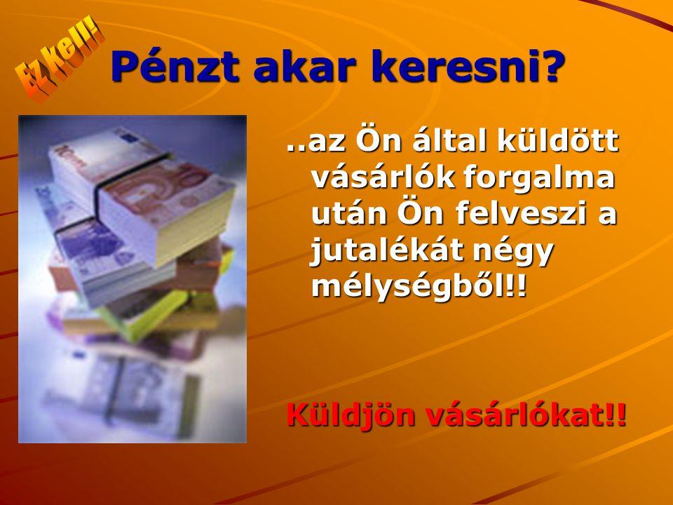 Pénzt akar keresni ..az Ön által küldött vásárlók forgalma után Ön felveszi a jutalékát négy mélységből!.